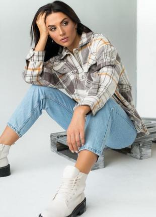 Тепла сорочка з пальтової тканини