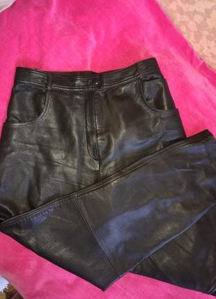 Кожанные штаны с хорошей посадкой