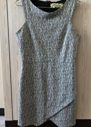 Платье серое оригинального кроя