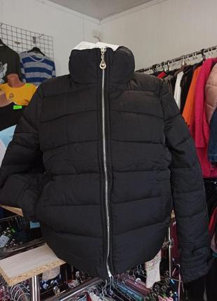 Куртка дутик  рукав рюши