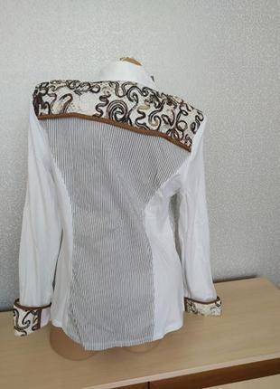 Итальянская коттоновая рубашка с кружевом
