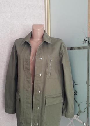 Куртка-рубашка с накладными карманами) пог 56