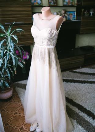 Вечернее выпускное cвадебное платье  for fashion. размер 40