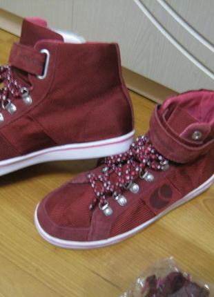 Женские демисезонные спортивные ботинки хайтопы на р38- 25см