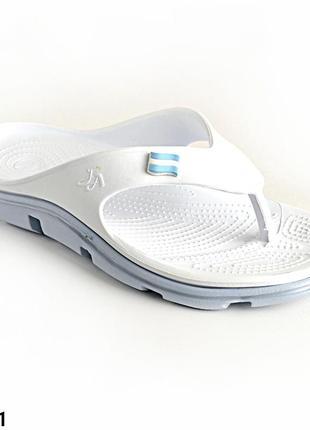 Вьетнамки женские, белые, р. 36, 37, медицинская обувь,118221