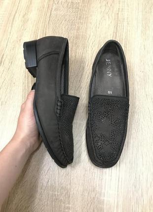 Jenny luftpolster 40 р кожа туфли мокасины топсайдеры туфлі