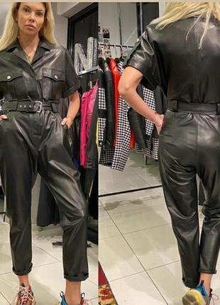 Кожаные женские комбинезоны