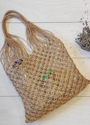 Эко-сумка, авоська из джута