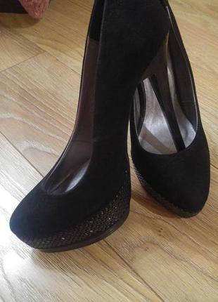 Туфли элегантные замша кожа 37