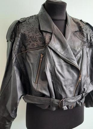 Косуха куртка оверсайз натуральная кожа от yessica размер 40