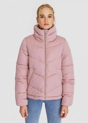 Куртка розовая stradivarius