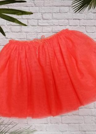 Блестящая фатиновая юбочка h&m на 4-6 лет