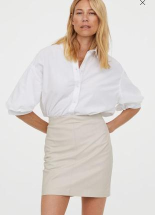 Распродажа юбка эко кожа h&m р.38-40 m-l