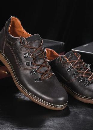 Мужские туфли кожаные коричневые кожаные мужские туфли