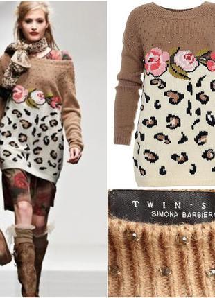 Twin set  брендовый свитер шерсть/альпака,м -л