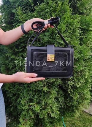 Клатч erick style h6906 черный / сумка через плечо небольшого размера