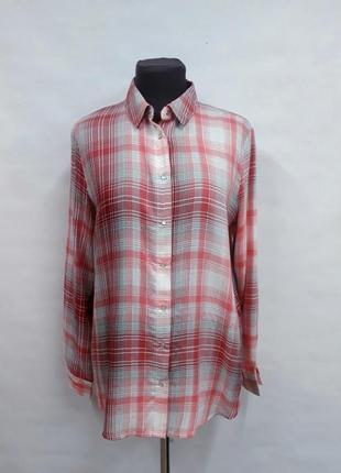 Натуральная рубашка в клетку only размер 38