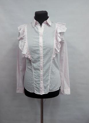 Нежно-розовая рубашка в полоску, италия
