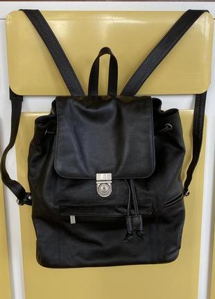 Рюкзак кожаный унисекс  множество карманов и отделений travelite