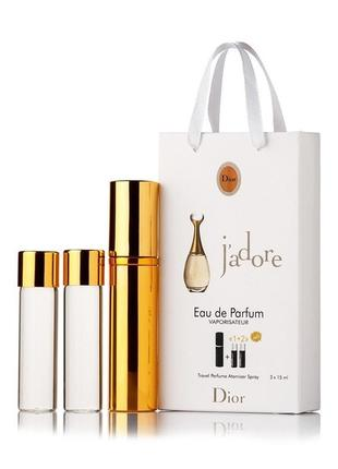Мини-парфюм с феромонами женский di0r j'adore 3х15 мл