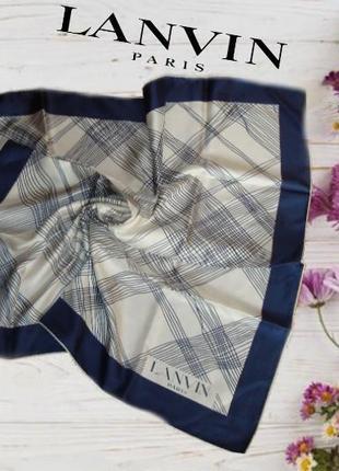 🦄🦄lanvin оригинал шелковый красивый женский платок шов роуль франция 🦄🦄