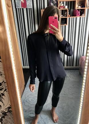 Атласная рубашка удлинённая