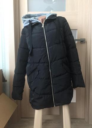 Куртка с трикотажным капюшоном, осень