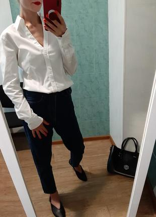 Фирменная белая, біла хлопковая рубашка, сорочка