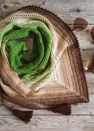 Бактус (шаль, платок) ручной работы