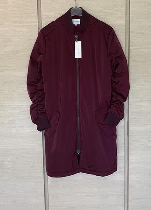 Пальто прямого кроя демисезонный вариант second female размер м