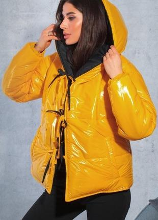 Модная двухсторонняя куртка холлофайбер