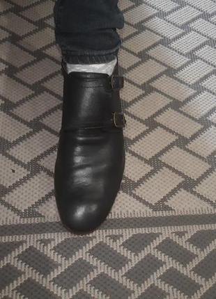 Мужские кожаные модельные туфли.