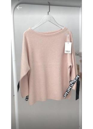 Красивый свитер с рукавом 3/4 декорированным стильной лентой n.every day