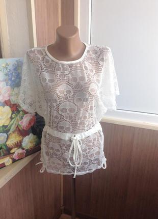 Ажурная блуза (можно на пляж) s-l