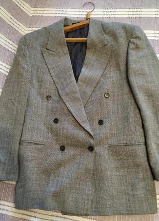 Двубортный винтажный пиджак