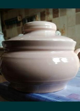 Кастрюля ссср антиквариат ретро винтаж керамическая керамика