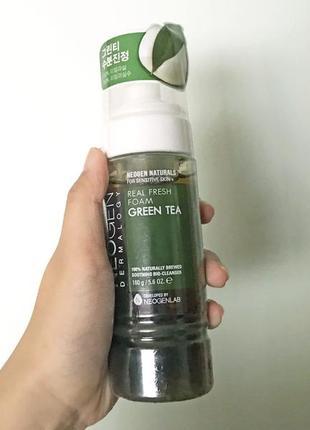 Успокаивающая пенка с зелёным чаем neogen dermalogy real fresh foam cleanser green tea