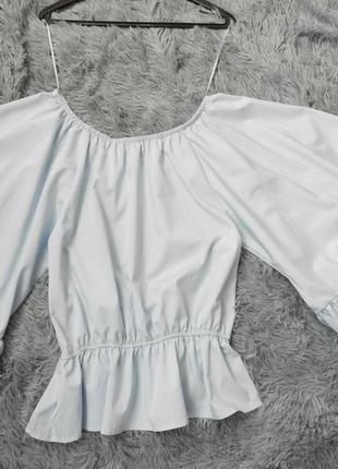 Блуза волан