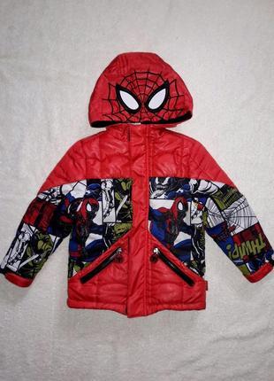 Оригинальная куртка на 3-4 года со спайдепменом
