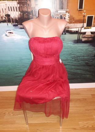 Мега красное платье cache cache