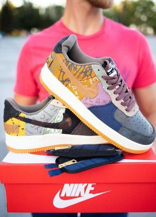 Шикарные кроссовки унисекс nike air force 1 cactus jack