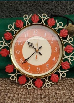 Часы настенные янтарь антиквариат ссср ретро винтаж
