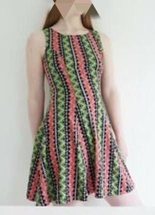 Сарафан платье в яркий геометрический принт трикотажное h&m