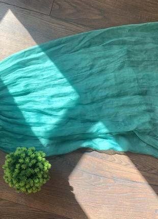 Сарафан зелёный