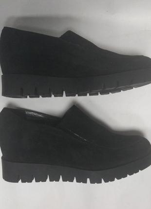 Туфли сникерсы замш на тракторной подошве topas collection р.38