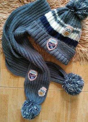 Набір шапка шарф