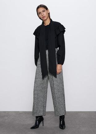 Потрясающе стильные осенние брюки/штаны с узором утиная лапка.
