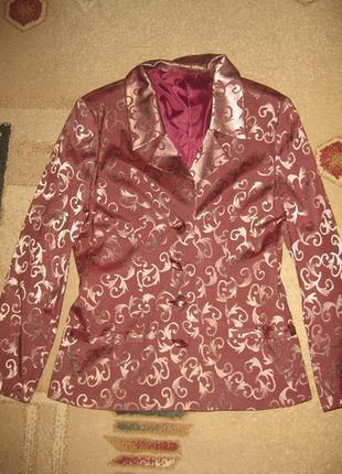 Золотистый пиджак natali bolgar
