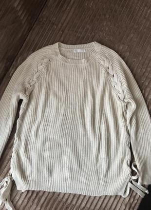 Стильный свитер джемпер з завязками от nicole