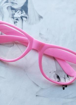 Имиджевые очки квадрат wf розовый